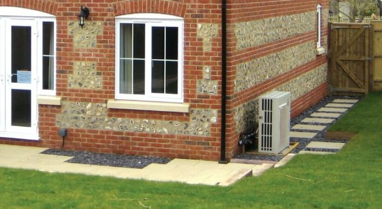 Heat Pump on Side of Dorset Home