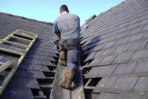Roofer on Roof